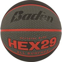 HEX29 Deluxe Basketball  - Red, Size 7