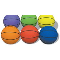 Prism Rubber Basketball Junior-Red