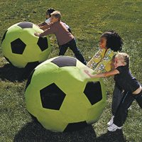 Giant Neon Green Soccer Ball - 3'