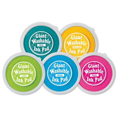 Giant Washable Colour Ink Pads - Set