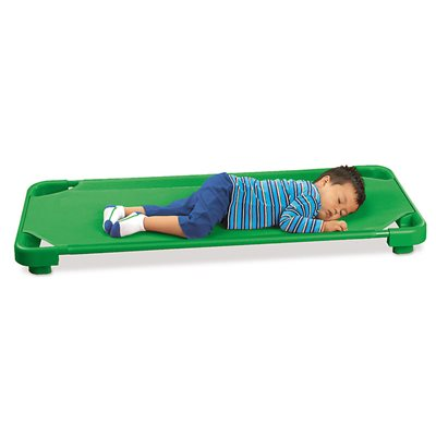 Kids Colours Easy-Stack Cot-Each-Green
