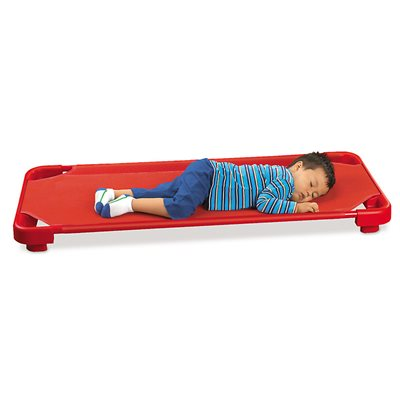 Kids Colours™ Easy-Stack Cot-Set of 5-Red