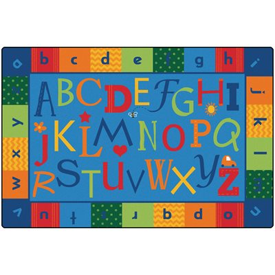 Alphabet Around Literacy Rug - 8' X 12'
