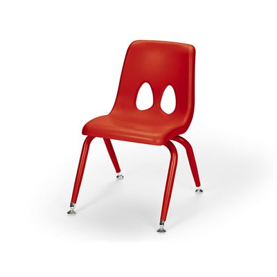 "11.5"" Classic Stacking Chair-Red"