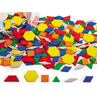 Plastic Pattern Blocks - 250 Pcs