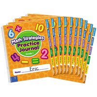 Math Strategies Practice Journal - Gr. 1-Set of 10