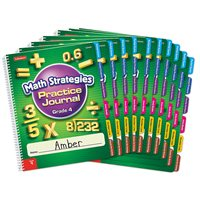 Math Strategies Practice Journal - Gr. 4-Set of 10