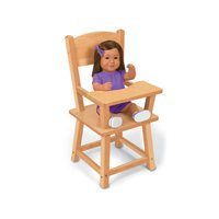 Hardwood Doll Highchair
