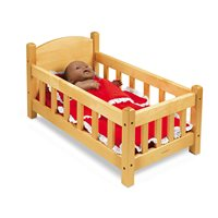Hardwood Doll Crib