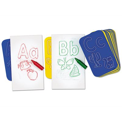 Learn The Alphabet Rubbing Plates