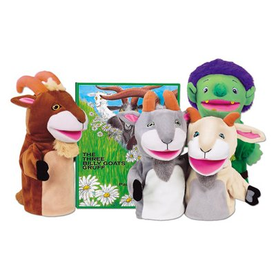 3 Billy Goats Gruff Storytelling Puppets