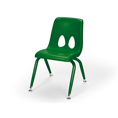 "13.5"" Colours of Nature Stacking Chair-Forest Green"