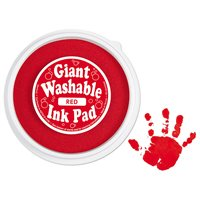 Giant Washable Colour Ink Pad - Red