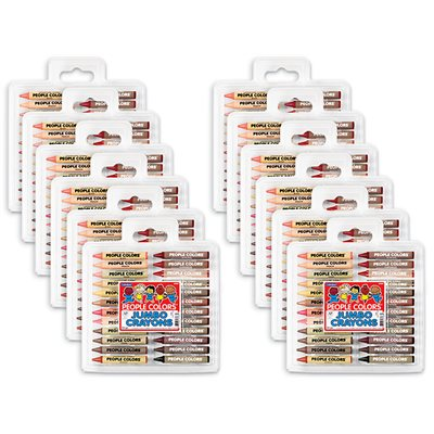 Jumbo People Colours® Crayon Pack - 24 Count - 12 Sets