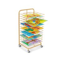 Double-Space Mobile Drying Rack - Natural