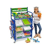 Maker Space Mobile Project Cart - Fully Loaded