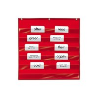 Heavy-Duty Small Pocket Chart - Red