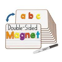 Double-Sided Magnetic Write & Wipe Mini Board-Set of 10