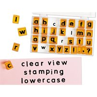 Clear-View Lowercase Alphabet Stamps