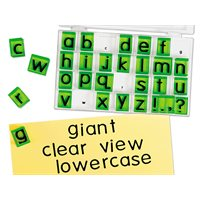 Giant Clear-View Lowercase Alphabet Stamps
