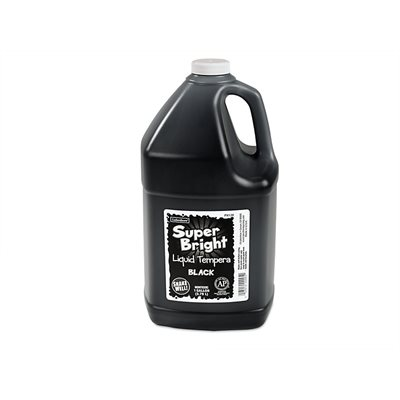 Superbright Liquid Tempera - 1 Gallon - Black