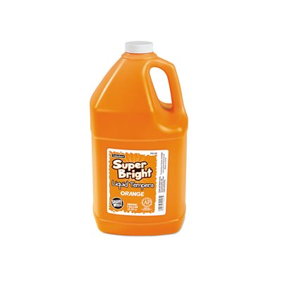 Bright Liquid Tempera 1 Gallon-Orange