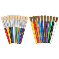 Nylon Bristle Brushes- 10 Colours