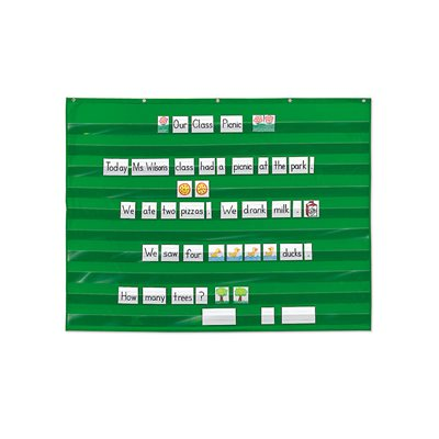 Heavy-Duty Extra Wide Pocket Chart-Green
