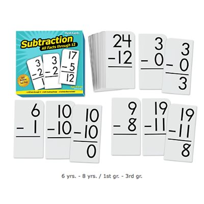 All Facts Math Flash Cards- Subtraction