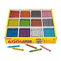 Best-Buy Large Crayons - 12 Colour Box