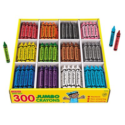 Best-Buy Jumbo Crayons - 12 Colour Box