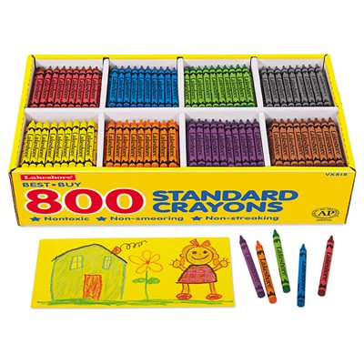 Best-Buy Standard Crayons - 8-Colour Box