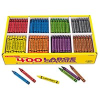 Best-Buy Large Crayons - 8 Colour Box