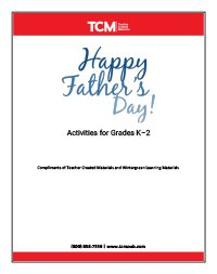 Fathers Day Activity Pages K-2_WG-Thumbnails