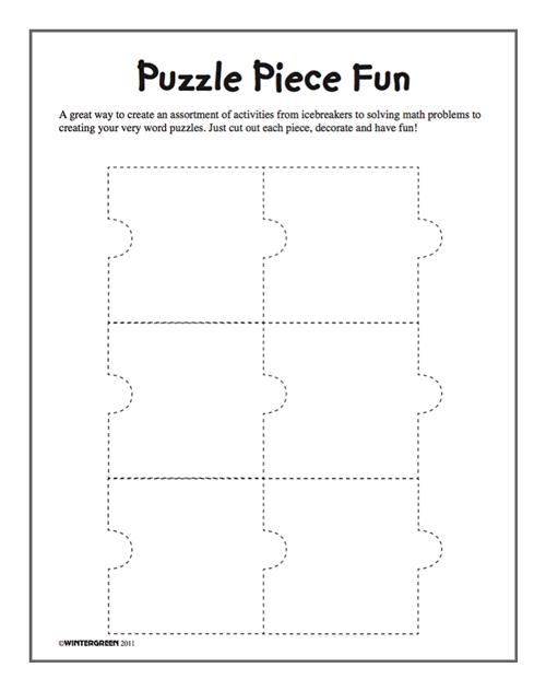 Puzzle Pieces Activity